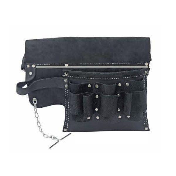 Electricians Tool Pouch in Oil Tanned Leather