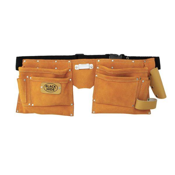 12 Pocket Yellow Split Leather Carpenters Apron